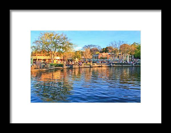 Framed Print featuring the photograph A View Of Disneyland From Tom Sawyer Island by Heidi Smith