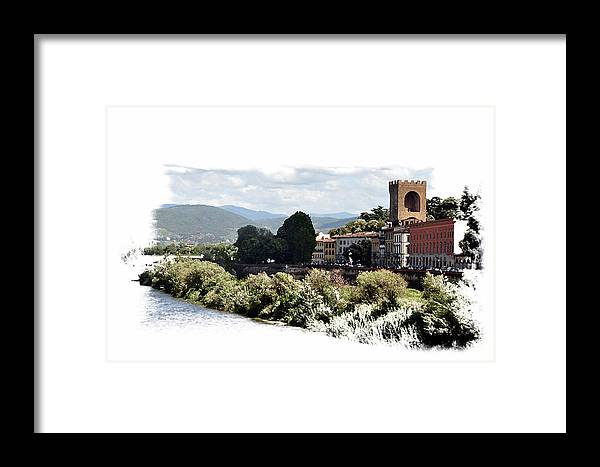 Florence Italy Framed Print featuring the photograph A View Of Florence Outer Banks by Allan Rothman