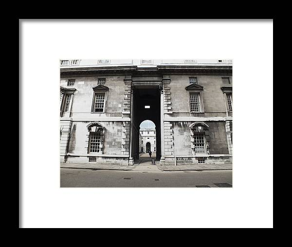 Royal Naval College Framed Print featuring the photograph A View Of The Royal Naval College by Anna Villarreal Garbis