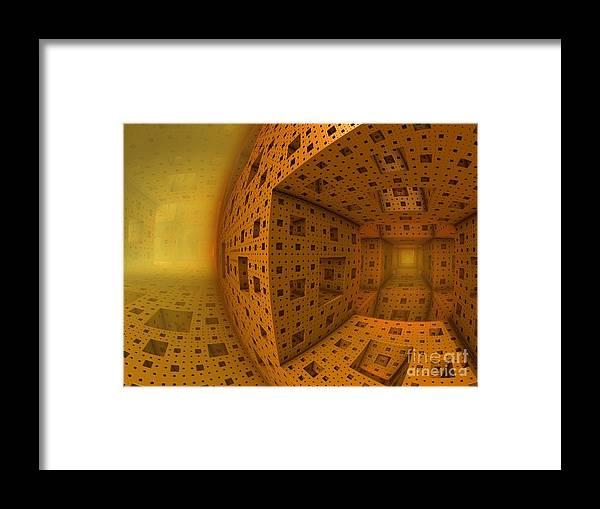 Amber Framed Print featuring the digital art A Whole New World by Vicki Lynn Sodora