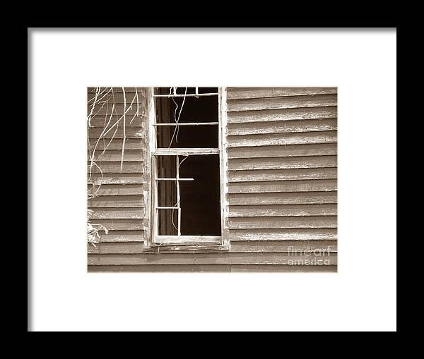 Landscape Photograph Framed Print featuring the photograph A Window Into The Past by Cindy Hudson