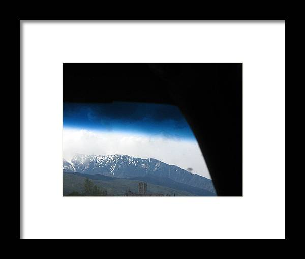 Windshield Framed Print featuring the photograph A Windshield View by Alexandre Lafreniere
