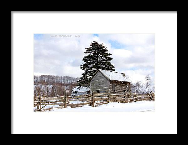 Rail Fence Framed Print featuring the photograph Abandoned Home by Carolyn Postelwait