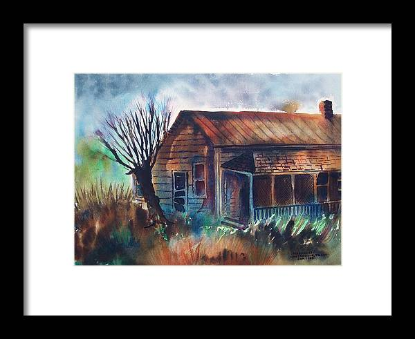 Castroville Framed Print featuring the painting Abandoned House by Aileen Markowski