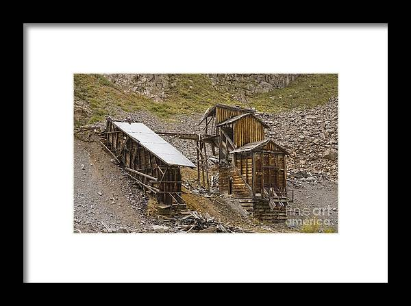 Western Buildings Framed Print featuring the photograph Abandoned Mine by Tim Mulina