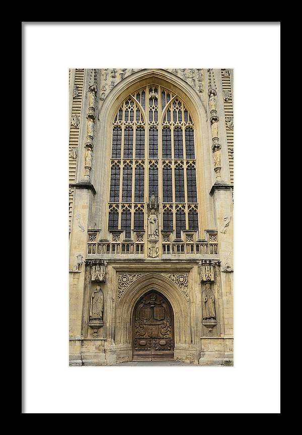 Bath Framed Print featuring the photograph Abbey Door by Nick Field
