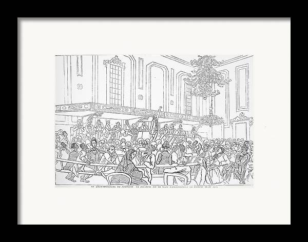 1859 Framed Print featuring the photograph Abolition Cartoon, 1859 by Granger