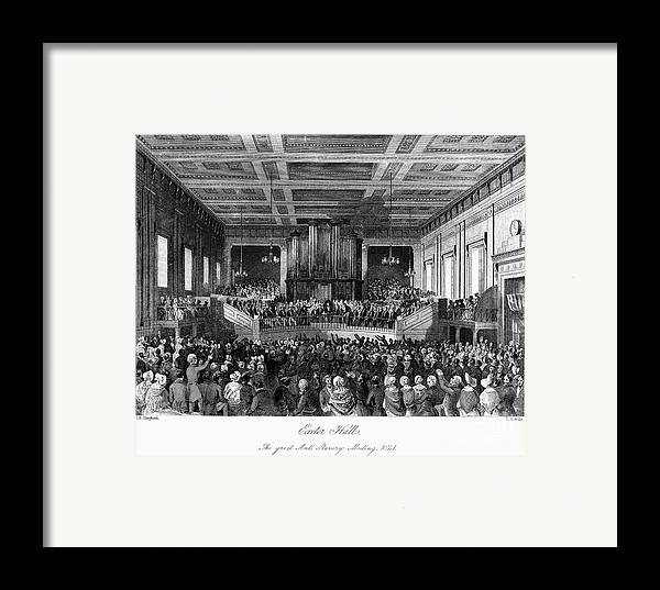 1840 Framed Print featuring the photograph Abolition Convention, 1840 by Granger