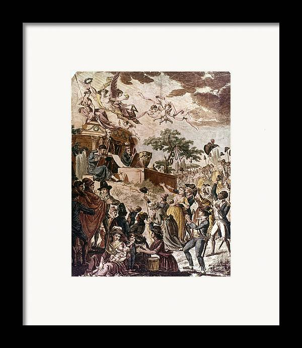 1794 Framed Print featuring the photograph Abolition Of Slavery, 1794 by Granger