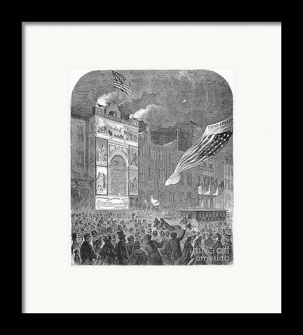 1864 Framed Print featuring the photograph Abolition Of Slavery, 1864 by Granger