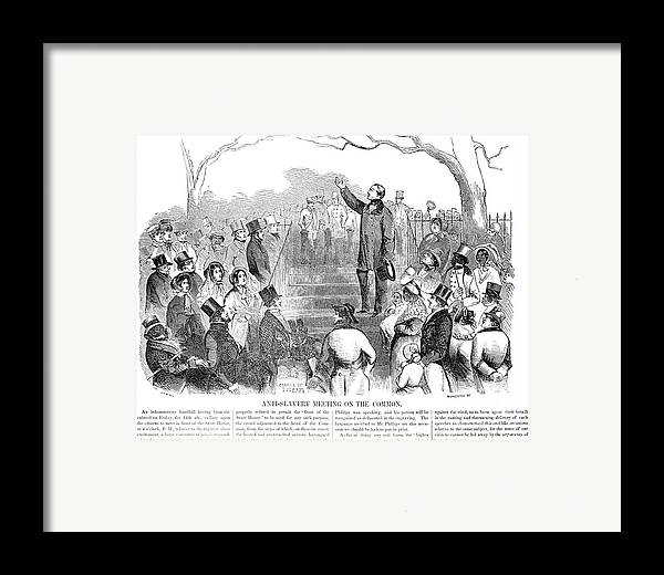1851 Framed Print featuring the photograph Abolition: Phillips, 1851 by Granger