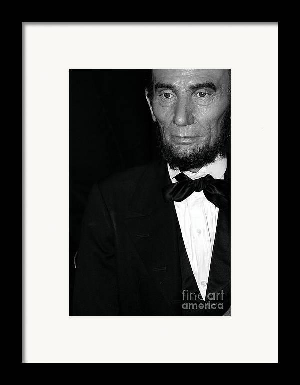 Abraham Lincoln Framed Print featuring the photograph Abraham Lincoln by Sophie Vigneault