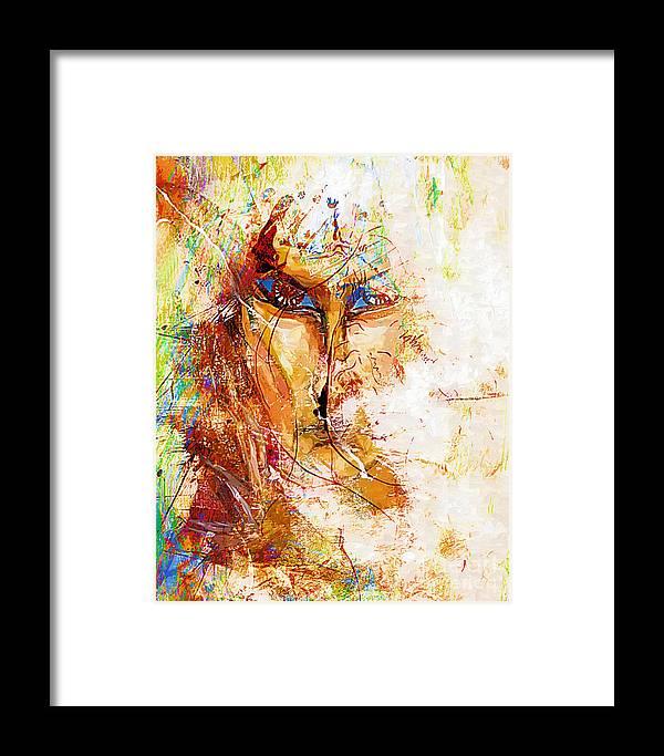 Graphics Framed Print featuring the digital art Abs 0062 by Marek Lutek
