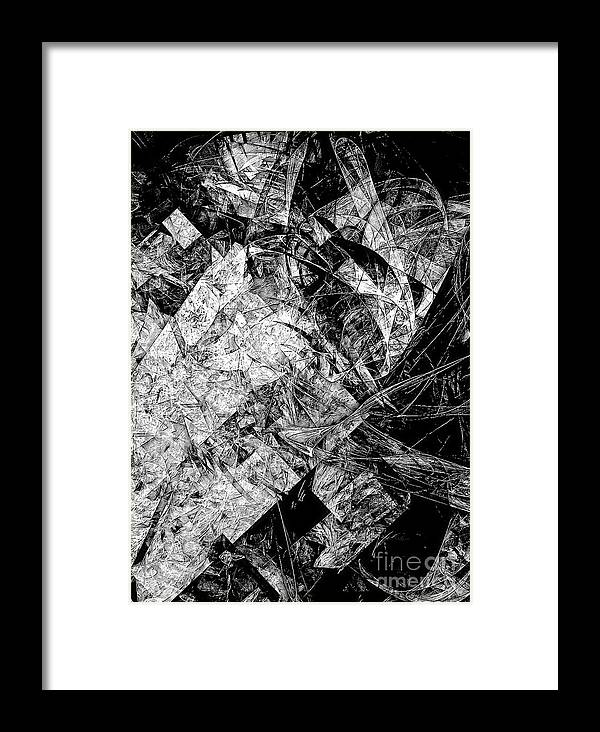 Graphics Framed Print featuring the digital art Abs 0575 by Marek Lutek