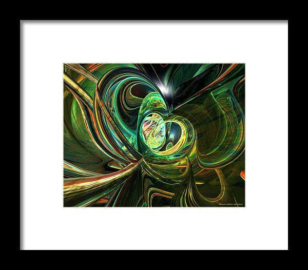 Metal Framed Print featuring the photograph Abstraced Love Remake Fx by G Adam Orosco