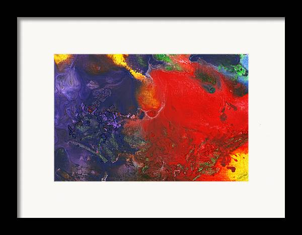 Abstract Framed Print featuring the photograph Abstract - Crayon - Andromeda by Mike Savad