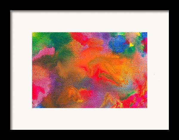 Abstract Framed Print featuring the photograph Abstract - Crayon - Melody by Mike Savad