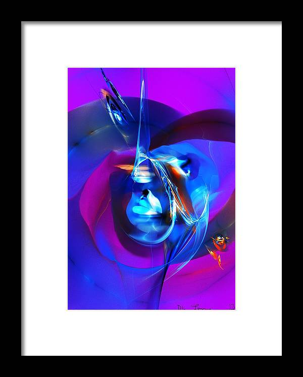 Fine Art Framed Print featuring the digital art Abstract 092612 by David Lane