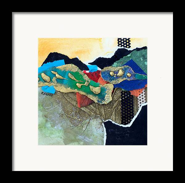 Painitng Framed Print featuring the painting Abstract 2011 No.1 by Kathy Braud