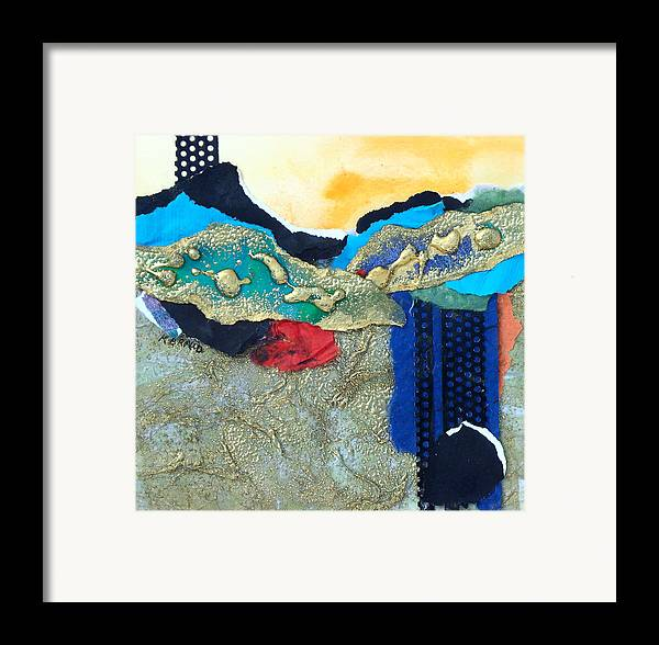 Painitng Framed Print featuring the painting Abstract 2011 No.2 by Kathy Braud