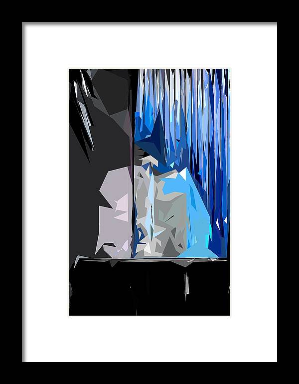 Abstract Framed Print featuring the photograph Abstract 23 by Burney Lieberman