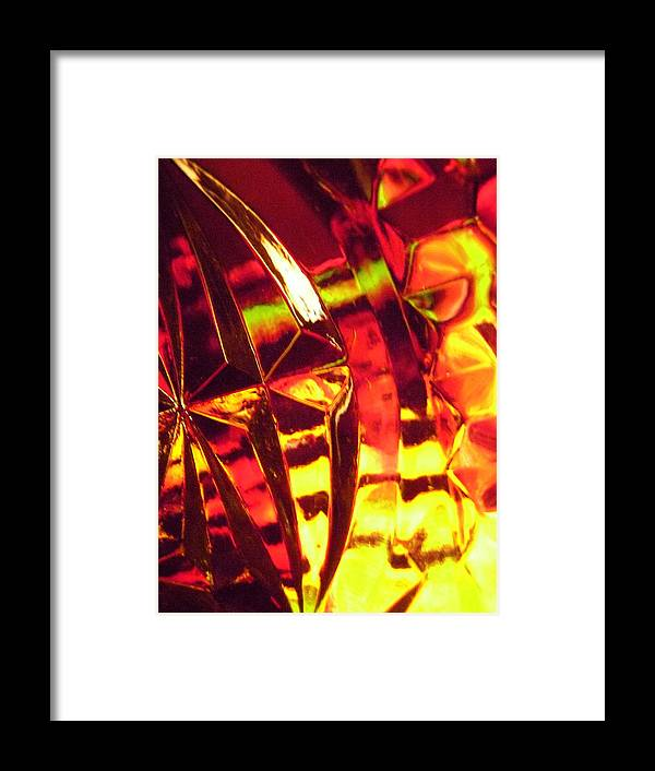 Yellow Framed Print featuring the photograph Abstract 3088 by Stephanie Moore
