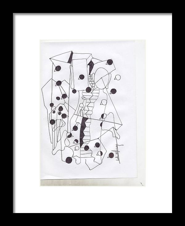 Framed Print featuring the mixed media Abstract 70 by Wayne Whittlesey