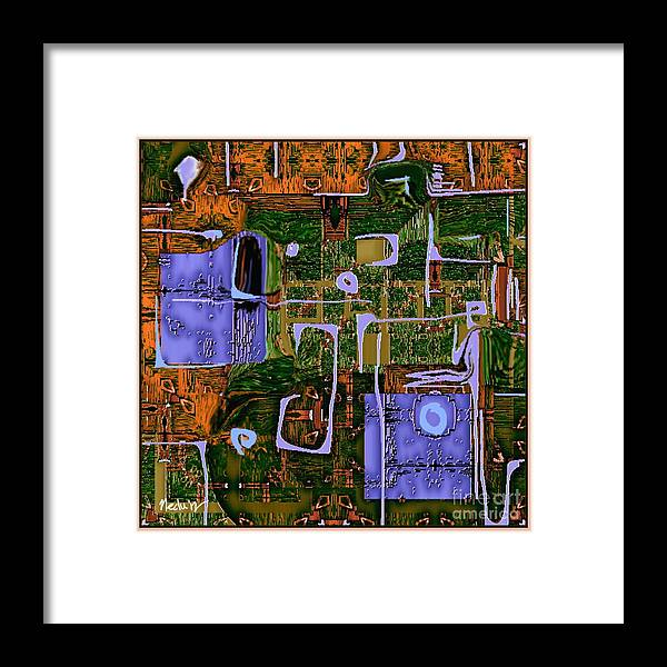 Paintings Framed Print featuring the painting Abstract 790 by Nedunseralathan R