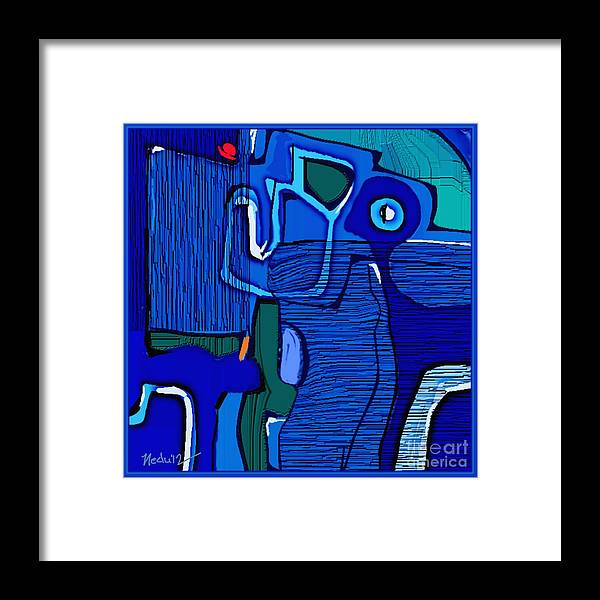 Paintings Framed Print featuring the painting Abstract 791 by Nedunseralathan R