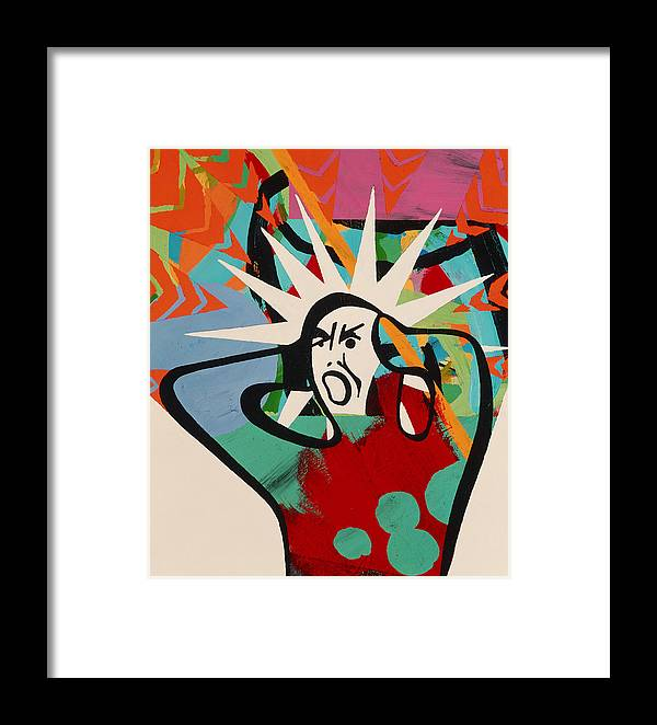 Mood Framed Print featuring the photograph Abstract Artwork Of A Angry Man Holding His Head by Paul Brown