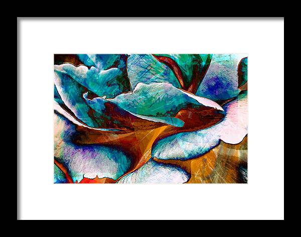 Abstract Framed Print featuring the digital art Abstract by Carrie OBrien Sibley