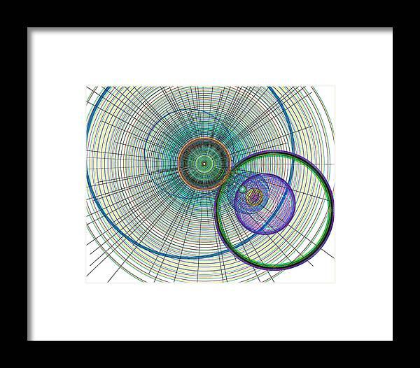 Art Framed Print featuring the digital art Abstract Circle Art by David Pyatt