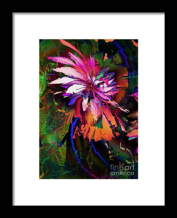 Floral Framed Print featuring the digital art Abstract Flower by Doris Wood