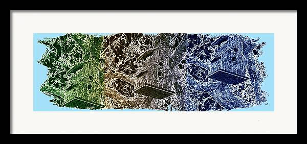 Abstract Fusion Framed Print featuring the digital art Abstract Fusion 160 by Will Borden