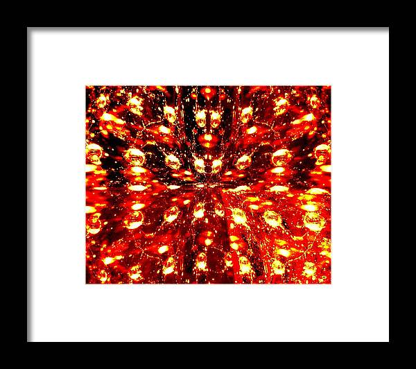Abstract Fusion Framed Print featuring the digital art Abstract Fusion 76 by Will Borden