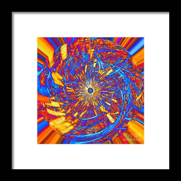 Abstract Framed Print featuring the photograph Abstract Globe by Rrrose Pix