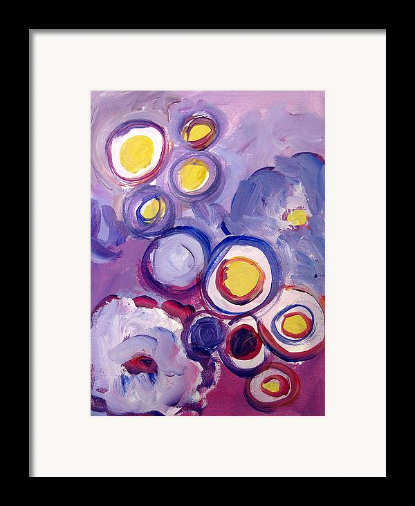 Abstract Art Framed Print featuring the painting Abstract I by Patricia Awapara
