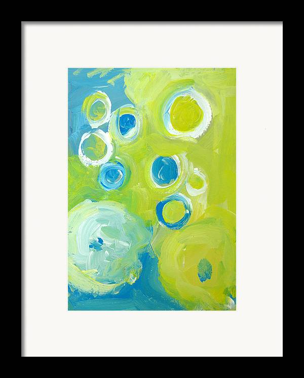 Abstract Art Framed Print featuring the painting Abstract IIII by Patricia Awapara