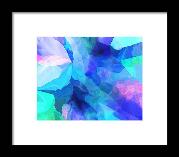 Fine Art Framed Print featuring the digital art Abstract In Blues 052612 by David Lane