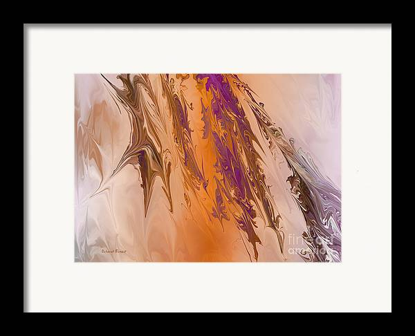 Abstract Framed Print featuring the digital art Abstract In July by Deborah Benoit