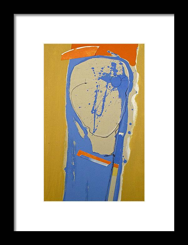 Abstract Paintings Framed Print featuring the painting Abstract Kopf by Cliff Spohn