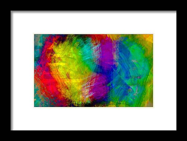 Abstract Of Multi Color Framed Print featuring the digital art Abstract Multi Colors by Carrie OBrien Sibley