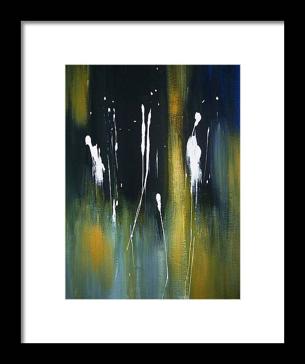 Abstract Framed Print featuring the painting Abstract No 003 by Joseph Ferguson