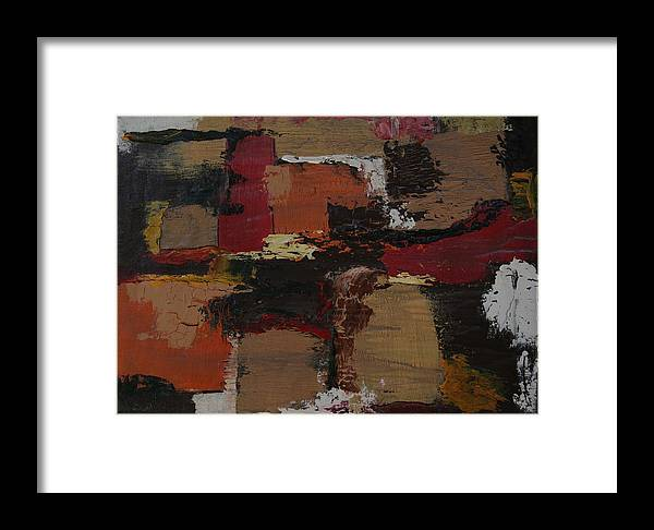 Abstract Framed Print featuring the painting Abstract Number 51 by James Johnson