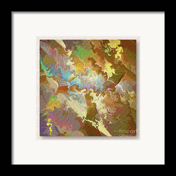 Abstract Framed Print featuring the photograph Abstract Puzzle by Deborah Benoit