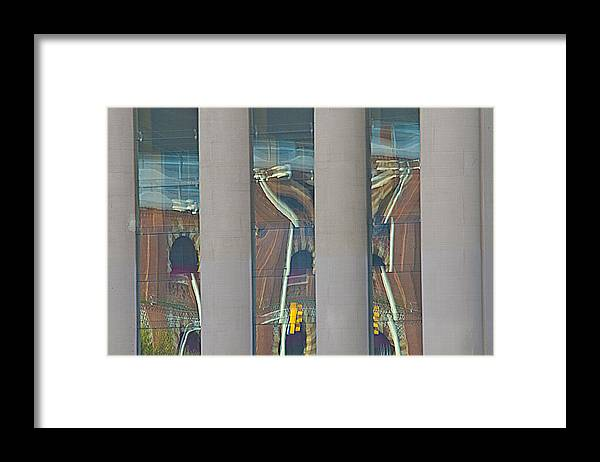 Abstract Framed Print featuring the photograph Abstract Reflection 34 by Richard Henne