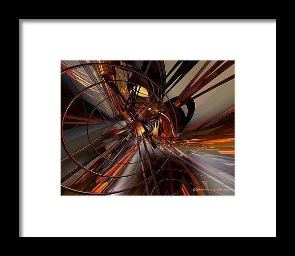 Canvas Framed Print featuring the digital art Abstructured Fx by G Adam Orosco