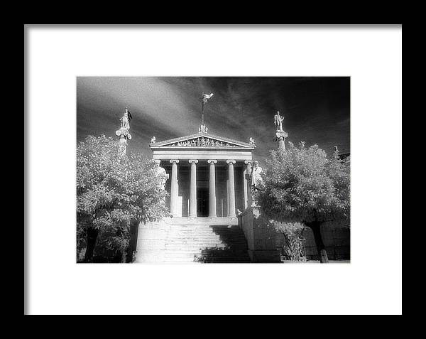 Neoclassical Building Framed Print featuring the photograph Academy Of Athens by Andonis Katanos