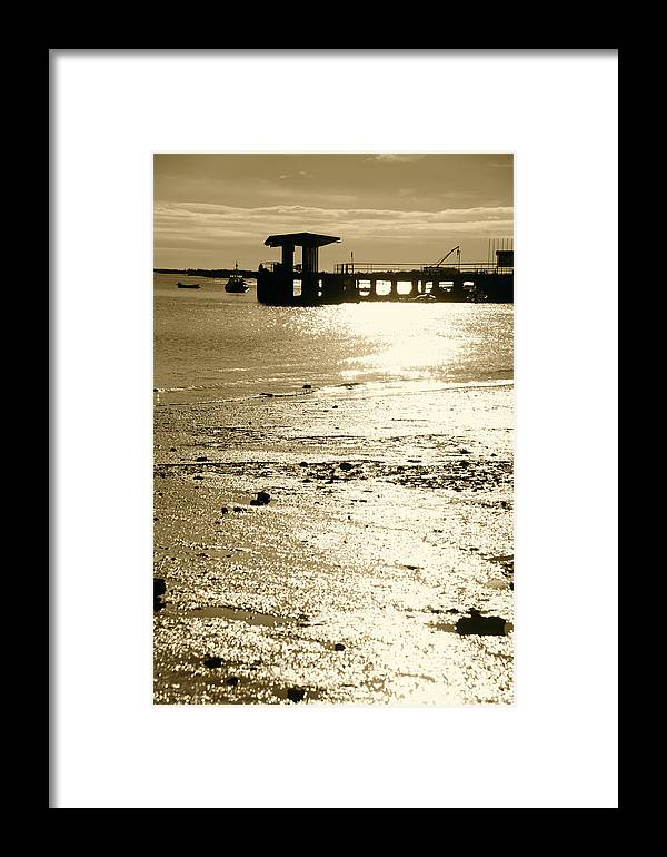 Framed Print featuring the photograph Across Santa Luzia Way by Jez C Self