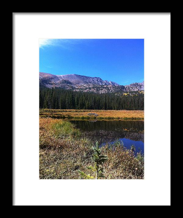 Landscape Framed Print featuring the photograph Across The Pond And Over The Mountain by Jason Pickens